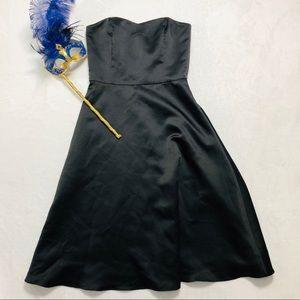WHBM- Classic LBD Satin Cocktail Dress Size 4